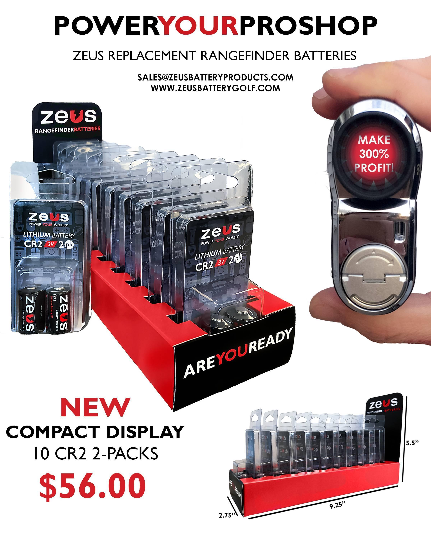 Zeus Golf Rangefinder Batteries - Power Your Pro Shop