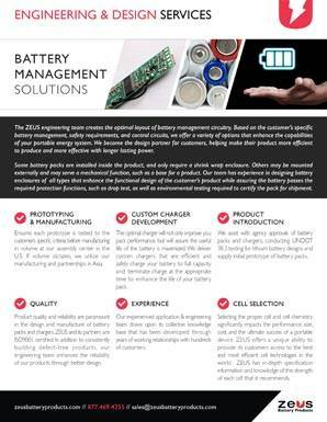 Engineering Design and Battery Management Solutions