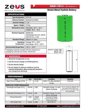 Zeus Battery Products - Download Center