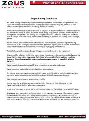 Proper Battery Care and Use